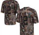 Nike Colts #12 Andrew Luck Camo With Hall of Fame 50th Patch NFL Elite Jersey