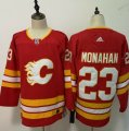 Flames #23 Sean Monahan Red Adidas Jersey