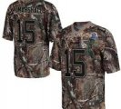 Nike Bears #15 Brandon Marshall Camo With Hall of Fame 50th Patch NFL Elite Jersey