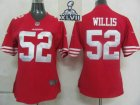 2013 Super Bowl XLVII Women NEW San Francisco 49ers 52 Willis Red Jerseys