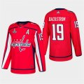 Capitals #19 Nicklas Backstrom Red 2018 Stanley Cup Champions Adidas Jersey