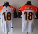 Nike Bengals #18 A.J. Green White With Hall of Fame 50th Patch NFL Elite Jersey