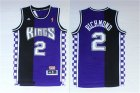 Kings #2 Mitch Richmond Black & Purple Hardwood Classics Jersey