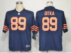 Nike NFL chicago bears #89 mike ditka blue throwback Game Jerseys