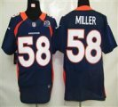 Nike Broncos #58 Von Miller Navy Blue With Hall of Fame 50th Patch NFL Elite Jersey