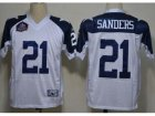 NFL Dallas Cowboys #21 Deion Sanders white Thankgivings Jerseys(Hall of Fame Class)