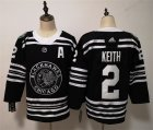 Blackhawks #2 Duncan Keith Black 2019 Winter Classic Adidas Jersey