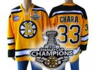 nhl boston bruins #33 chara yellow[2011 stanley cup champions]
