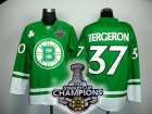 nhl boston bruins #37 bergeron green[2011 stanley cup champions]