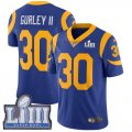 Nike Rams #30 Todd Gurley II Royal Youth 2019 Super Bowl LIII Vapor Untouchable Limited Jersey