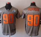 Nike Bears #90 Julius Peppers Grey Shadow With Hall of Fame 50th Patch NFL Elite Jersey