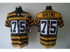 Nike nfl jerseys pittsburgh steelers #75 greene throwback yellow-black(team 80 anniversary)