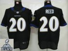 2013 Super Bowl XLVII NEW Baltimore Ravens 20 Reed Black (Elite NEW)