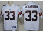 NFL Cleveland Browns #33 Trent Richardson white Jerseys