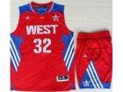 2013 All-Star Western Conference Los Angeles Clippers #32 Blake Griffin Red(Revolution 30 Swingman)Suits