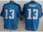 Nike NFL Tennessee Titans #13 Kendall Wright Light Blue Elite Jerseys