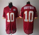 Nike Redskins #10 Robert Griffin III Red With Hall of Fame 50th Patch NFL Elite Jersey