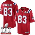 Youth Nike New England Patriots #83 Lavelle Hawkins Elite Red Alternate Super Bowl LI 51 NFL Jersey