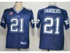 NFL Dallas Cowboys #21 Deion Sanders Blue Jerseys(Hall of Fame Class)