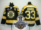 nhl boston bruins #33 chara black[2011 stanley cup champions]