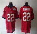 Nike Buccaneers #22 Doug Martin Red With Hall of Fame 50th Patch NFL Elite Jersey