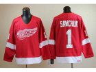 nhl jerseys deroit red wings #1 Terry Sawchuk CCM Throwback red