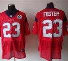 Nike Texans #23 Arian Foster Red With Hall of Fame 50th Patch NFL Elite Jersey