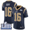 Nike Rams #16 Jared Goff Navy 2019 Super Bowl LIII Vapor Untouchable Limited Jersey