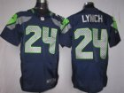 Nike NFL Seattle Seahawks #24 Marshawn Lynch Blue Elite Jerseys