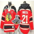 nhl jerseys chicago blackhawks #21 mikita red[pullover hooded sweatshirt patch A][2013 Stanley cup champions]