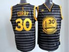nba golden state warriors #30 curry grey jerseys[black strip]