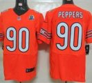 Nike Bears #90 Julius Peppers Orange With Hall of Fame 50th Patch NFL Elite Jersey
