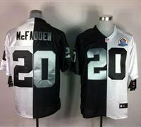 Nike Raiders #20 Darren McFadden With Hall of Fame 50th Patch NFL Elite Jersey