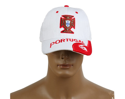 2014 Brazil World Cup Soccer Portugal White Snapback Hat