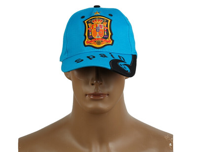 2014 Brazil World Cup Soccer Spain Light Blue Snapback Hat