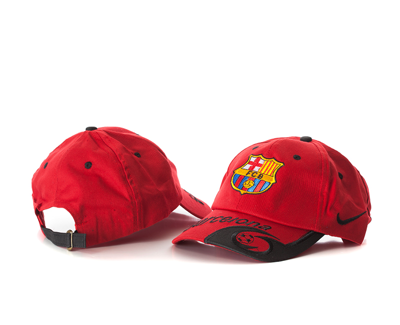 Barcelona Red Soocer Hat