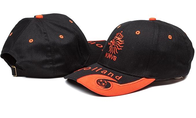 Netherlands Black Soccer Hat
