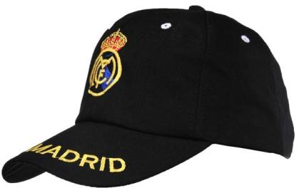 Real Madrid Black Soccer Caps