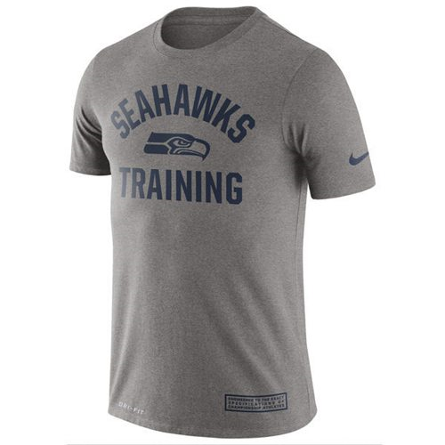 Mens Seattle Seahawks Nike Heathered Gray Training Performance T-Shirt