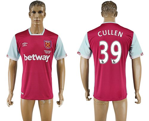 West Ham United #39 Cullen Home Soccer Club Jersey