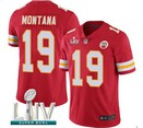 Nike Chiefs #19 MONTANA Red 2020 Super Bowl LIV Vapor Untouchable Limited Jersey