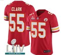 Nike Chiefs #55 CLARK Red 2020 Super Bowl LIV Vapor Untouchable Limited Jersey